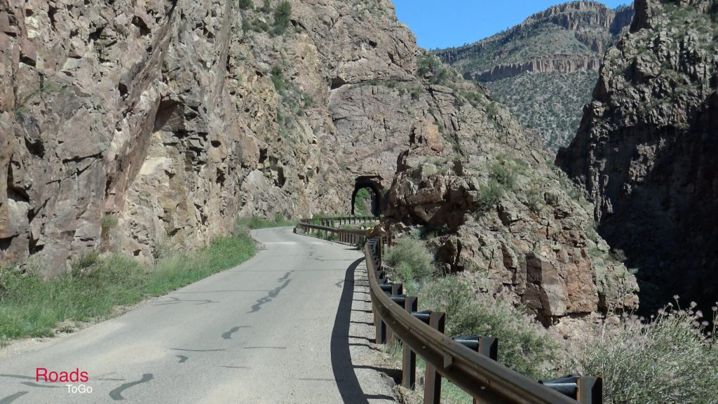 RoadsToGo Best Driving Roads - New Mexico State Highway 485 - Gilman Tunnel Road